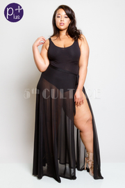 Plus Size All Sexy Glam Maxi Mesh Skirt