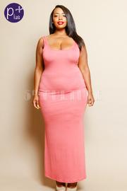 Plus Size Classy Basic Maxi Jersey Dress