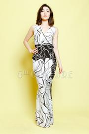 Surplice Floral Maxi Dress