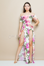 Sexy In Roses Printed Maxi Dress