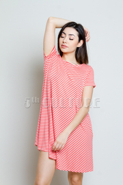 Striped Casual Tunic Dress