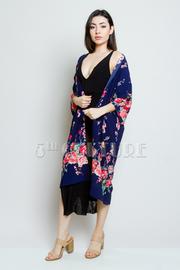 All Floral Sheer Long Kimono Cardigan