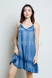 Denim For Days V Neck Tunic Dress