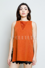 Sleeveless Solid Tunic Top