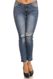 Ripped Knee Skinny 5-Pocket Jeans