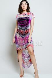 Tie Dye Sliced Hi Low Jersey Dress