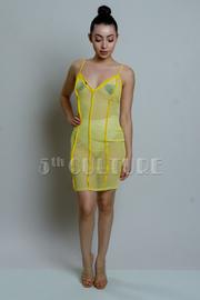 Strappy Sexy See Through Mesh Mini Dress
