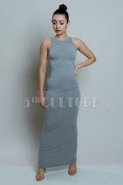 Sliced Back Jersey Maxi Dress