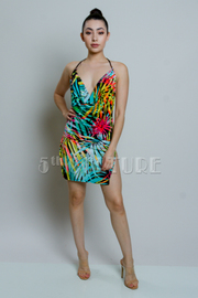 It's A Jungle Sexy Mini Drape Dress
