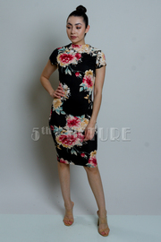 Floral All Mesh Midi Tube Dress