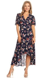 Short Sleeved Floral Maxi Dress