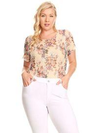 Plus Size Pretty In Floral Mesh Bodysuit