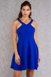 Sleeveless Solid Skater Dress