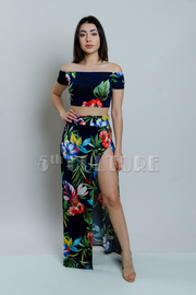 Tropical 2-Piece Hawaiian Maxi Skirt Set