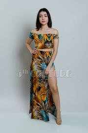 Off Shoulder 2-Piece Native Maxi Skirt Set