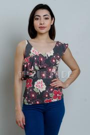Ruffled Floral Print Top