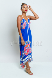 Floral Summer Breeze Bohemian Maxi Dress