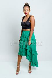 Ruffled Tango Hi Lo Skirt