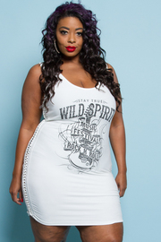 Plus Size Wild Spirit Graphic Tube Dress