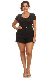 Plus Size Miss Black Denim Mini Shorts