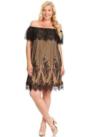 Plus Size Off Shoulder Gothic Laced Tunic Dress