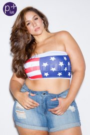 Plus Size Celebrate The 4TH Sexy Bandeau