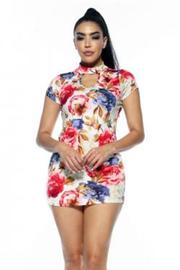 A Very Floral Casual Mock Mini Dress