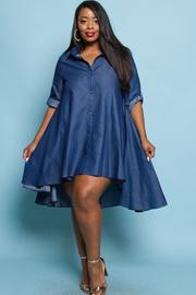 Plus Size Sexy In Denim Flowy Dress
