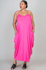 Plus Size Solid Jersey Maxi Dress
