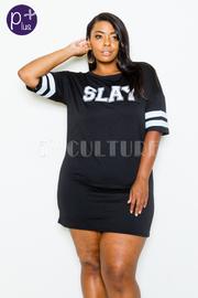Plus Size Slay Varsity Tube Dress