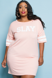 Plus Size Slay Varsity Tube Dress