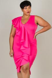 Plus Size Cascading Radiant Bodycon Dress
