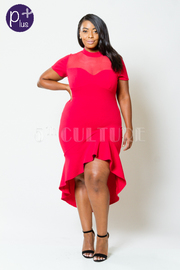 Plus Size Hot Date Mermaid Tube Dress