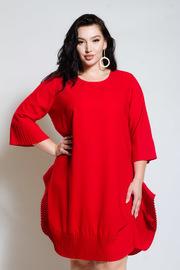 Plus Size Bubble 3/4 Sleeved Mini Dress