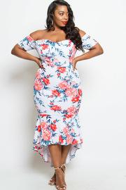 Plus Size Sweetheart Floral in Bloom Maxi Mermaid Dress