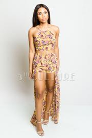 Stylish Summer Paisley Cropped Skirt Set