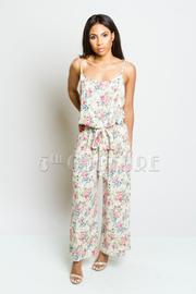 Pretty In Floral Tie Waist Jumpsuit