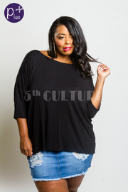 Plus Size Cross Straps Back Blouse