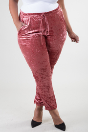 Plus Size Holiday Velvet Fall Pants