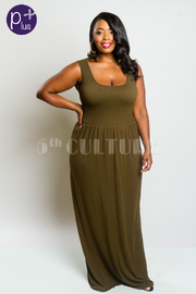 Plus Size Sleeveless Modal Flowy Maxi Dress