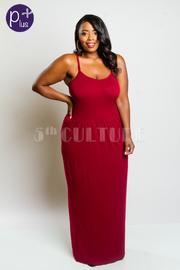Plus Size Spaghetti Strap Modal Summer Maxi Dress