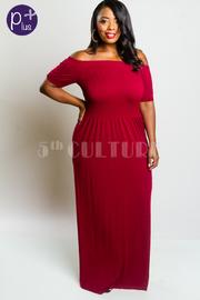 Plus Size Smocked Off Shoulder Modal Maxi Dress