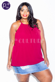 Plus Size Simple Sheer Summer Top