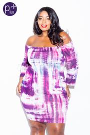 Plus Size Off Shoulder Brushed Tube Dress