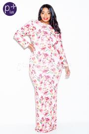 Plus Size 2-Way Floral Slim Maxi Dress