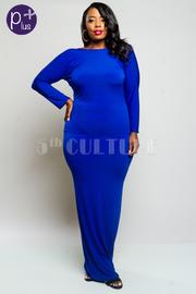 Plus Size 2-Way Classic Solid Mermaid Maxi Dress