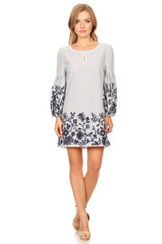 Floral Embroidery Casual Tunic Dress