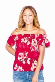Off Shoulder Floral Summer Top