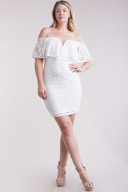 Plus Size Classy Girl Sweethreart Bodycon Lacey Dress