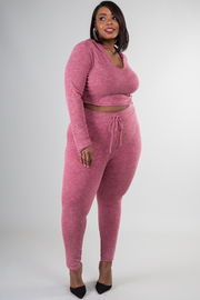 Plus Size Weekend 2-Piece Jogger Pants Set